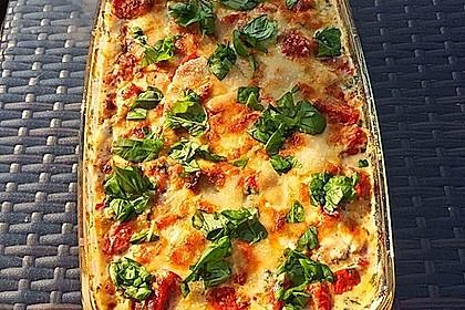 Mozzarella - Hähnchen in Basilikum - Sahnesauce 22