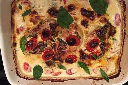 Mozzarella - Hähnchen in Basilikum - Sahnesauce 255