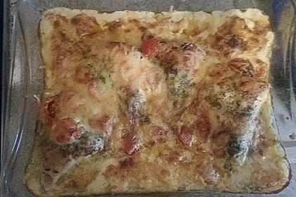 Mozzarella - Hähnchen in Basilikum - Sahnesauce 335
