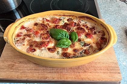 Mozzarella - Hähnchen in Basilikum - Sahnesauce 181