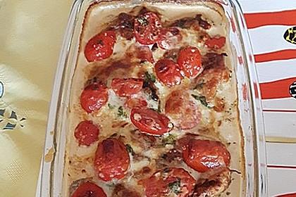 Mozzarella - Hähnchen in Basilikum - Sahnesauce 224