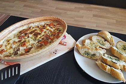 Mozzarella - Hähnchen in Basilikum - Sahnesauce 9