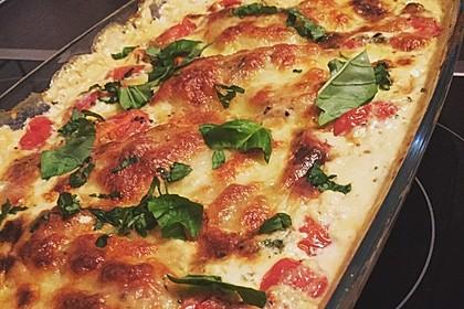 Mozzarella - Hähnchen in Basilikum - Sahnesauce 40