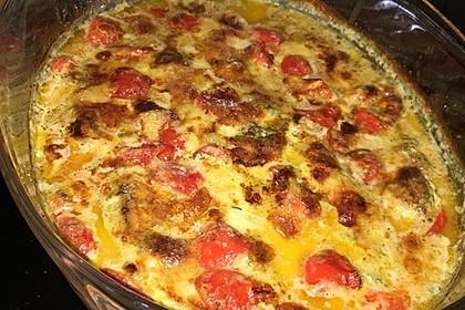 Mozzarella - Hähnchen in Basilikum - Sahnesauce 132
