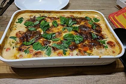 Mozzarella - Hähnchen in Basilikum - Sahnesauce 36