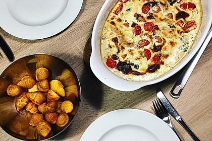 Mozzarella - Hähnchen in Basilikum - Sahnesauce 15