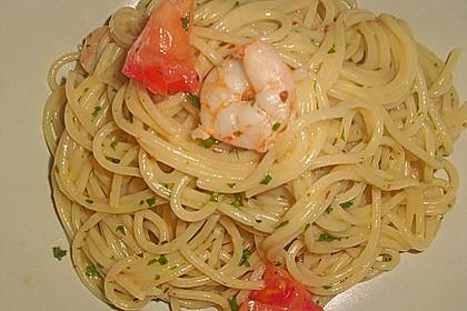 Spaghetti mit Gambas - Sauce