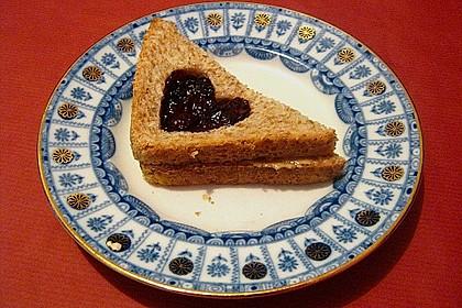 Herzige Erdnussbutter - Sandwiches 3