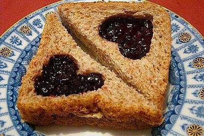 Herzige Erdnussbutter - Sandwiches 4
