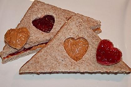 Herzige Erdnussbutter - Sandwiches 1