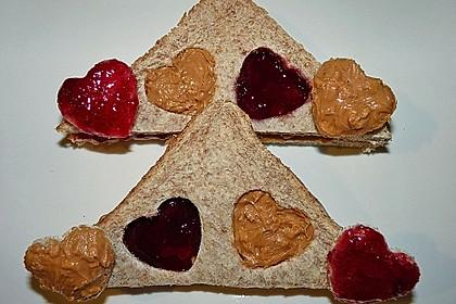 Herzige Erdnussbutter - Sandwiches 0