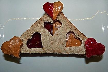 Herzige Erdnussbutter - Sandwiches 2