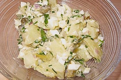 Kartoffelsalat mit Eier Kräuter Sauce 0