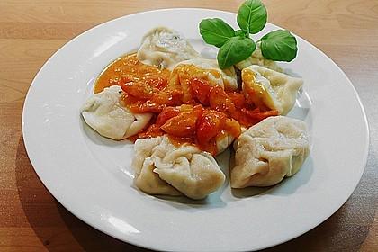 Ricotta - Tortellini mit Tomaten - Orangen - Sauce