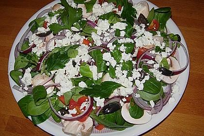 Kreta Feldsalat mit Schafskäse 4