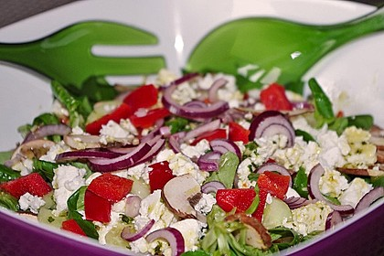 Kreta Feldsalat mit Schafskäse 3
