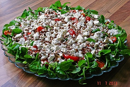 Kreta Feldsalat mit Schafskäse 5