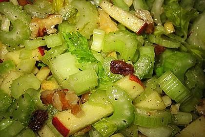 Salat vom Stangensellerie mit Nüssen und Äpfeln