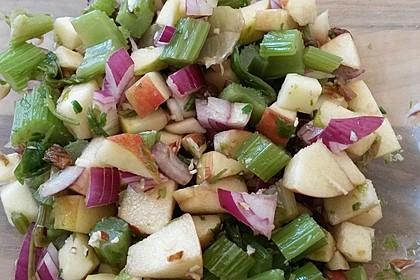 Salat vom Stangensellerie mit Nüssen und Äpfeln 7