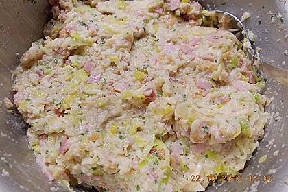 Schinken - Porree - Käse - Laibchen 12