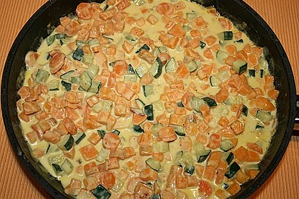 Süßkartoffelcurry mit karamellisierter Ananas 17