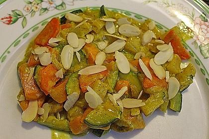 Süßkartoffelcurry mit karamellisierter Ananas 6