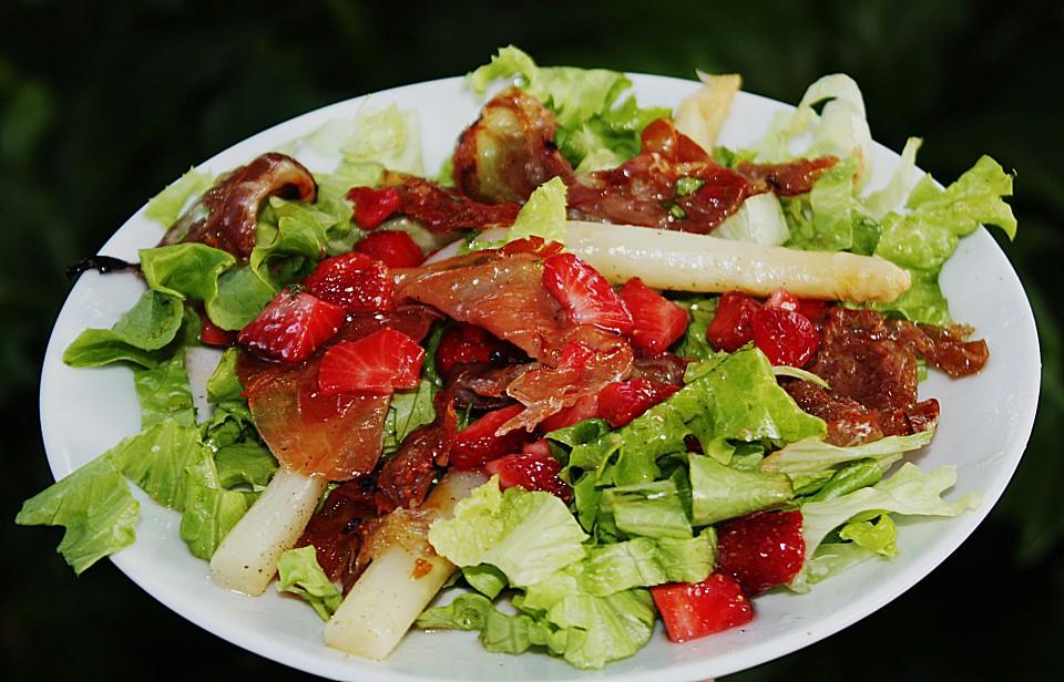 salat mit spargel und erdbeeren rezept mit bild