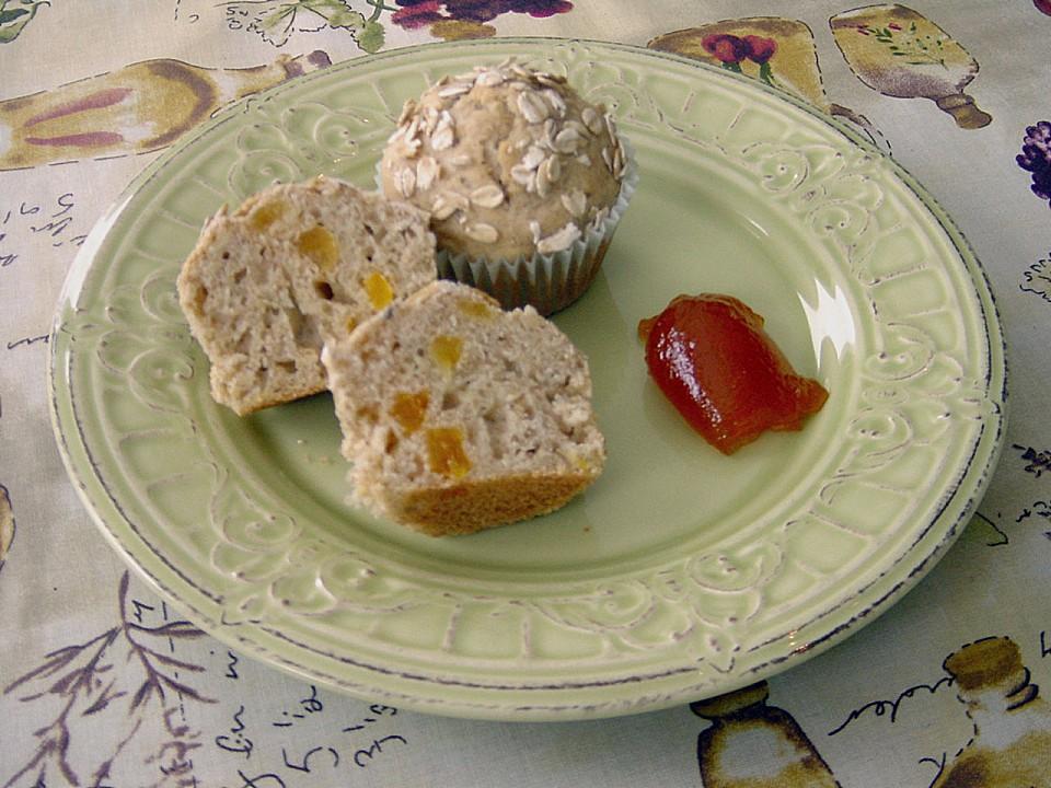 muffins mit banane und aprikosen von pumpkin pie. Black Bedroom Furniture Sets. Home Design Ideas