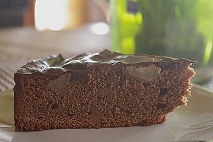 Birnenkuchen mit dem schokoladigsten Schoko - Schokoladen - Schock 13