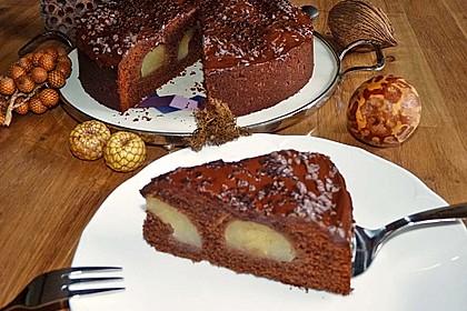 Birnenkuchen mit dem schokoladigsten Schoko - Schokoladen - Schock 4