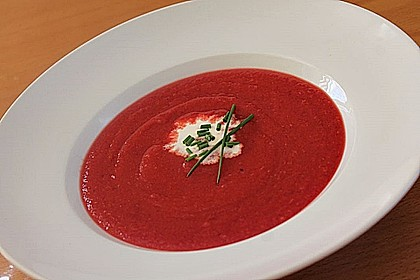 Cremige Rote Bete - Möhren - Suppe 4