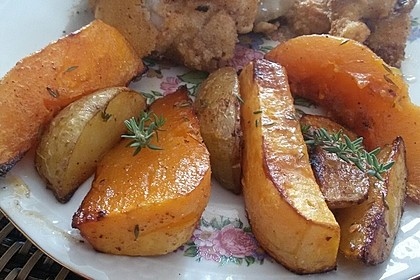 Kartoffel - Kürbis - Wedges (Bild)