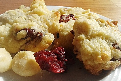 White Chocolate Cranberry Macadamia Cookies 5