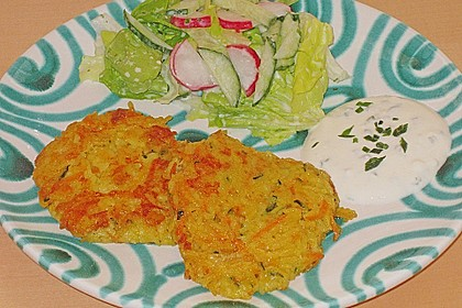 Curryreis - Gemüselaibchen mit Knoblauchdip 1
