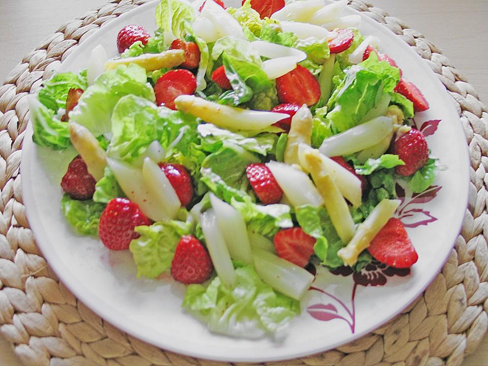 spargel erdbeer salat mit h hnchenbrustfilet rezept. Black Bedroom Furniture Sets. Home Design Ideas