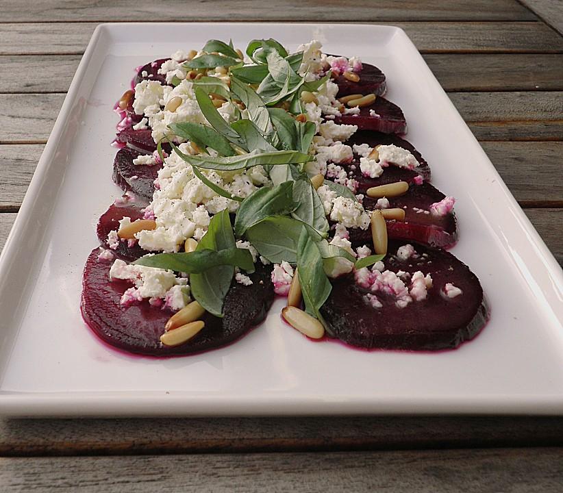 rote bete salat mit schafk se balsamico dressing rezept mit bild. Black Bedroom Furniture Sets. Home Design Ideas