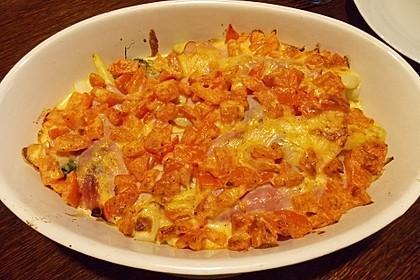 Spargel überbacken, mit Tomate und Spinat 39
