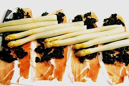 Spargel überbacken, mit Tomate und Spinat 28