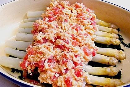 Spargel überbacken, mit Tomate und Spinat 22