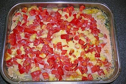Spargel überbacken, mit Tomate und Spinat 37