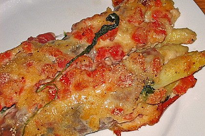 Spargel überbacken, mit Tomate und Spinat 29