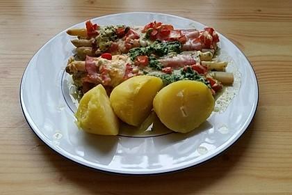 Spargel überbacken, mit Tomate und Spinat 31
