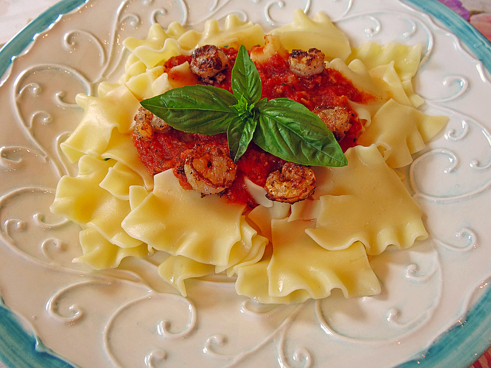 shrimps parmesan mit tomatensauce und pasta von sweetcakes. Black Bedroom Furniture Sets. Home Design Ideas