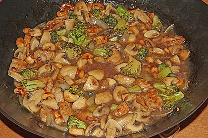 Chinesische Hähnchenbrust mit Brokkoli 7
