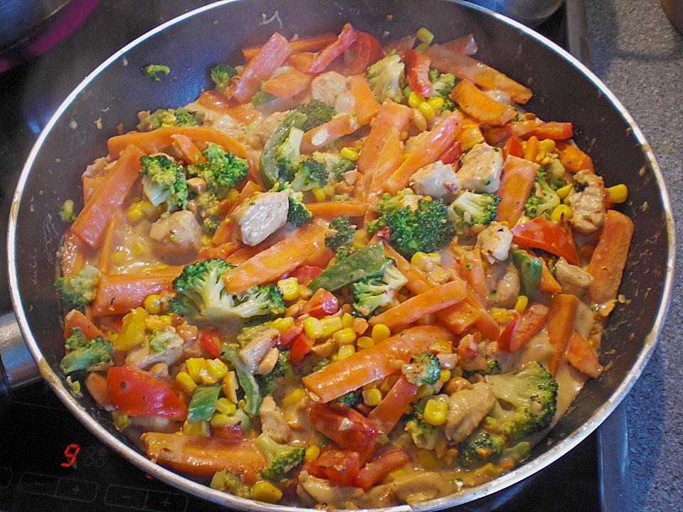 Rezept curry huhn gemuse