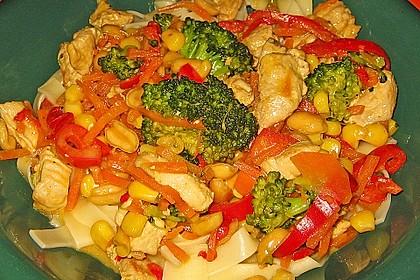 Hähnchen-Gemüse-Kokospfanne 9