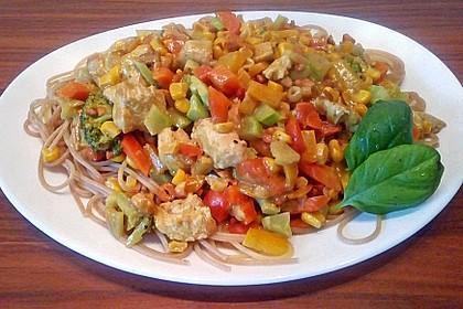 Hähnchen-Gemüse-Kokospfanne 7