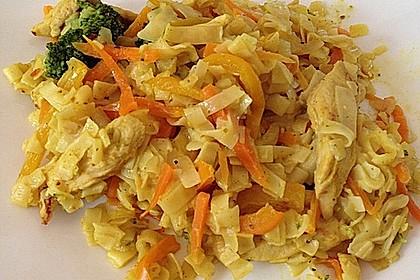 Hähnchen-Gemüse-Kokospfanne 16