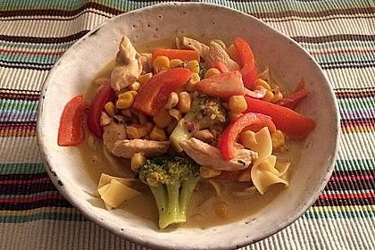 Hähnchen-Gemüse-Kokospfanne 11