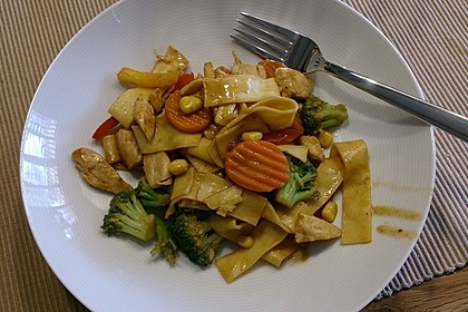 Hähnchen-Gemüse-Kokospfanne 19